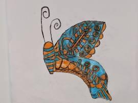 Tahir's butterfly in flight
