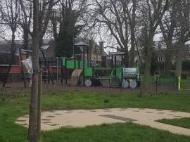 Faringdon Road Park, train themed play park