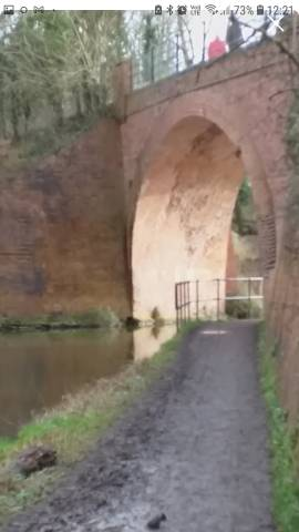 the canal bridge, thinking back there would have been horses pulling barges under here in the past